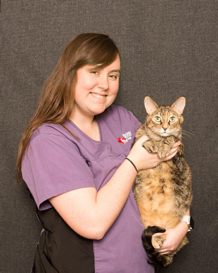 Sara Wilson holding a cat